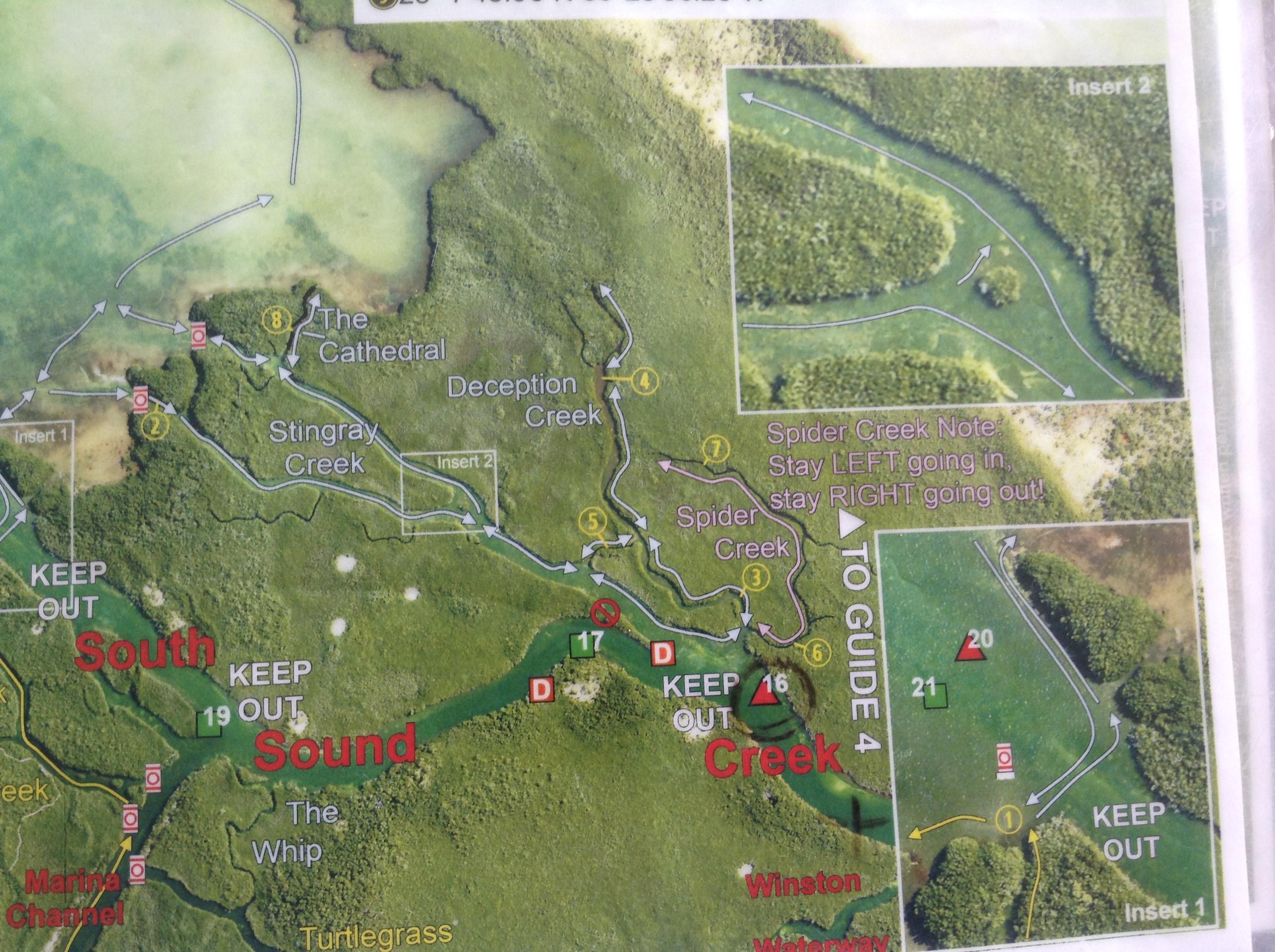 John Pennekamp Kayaking Map