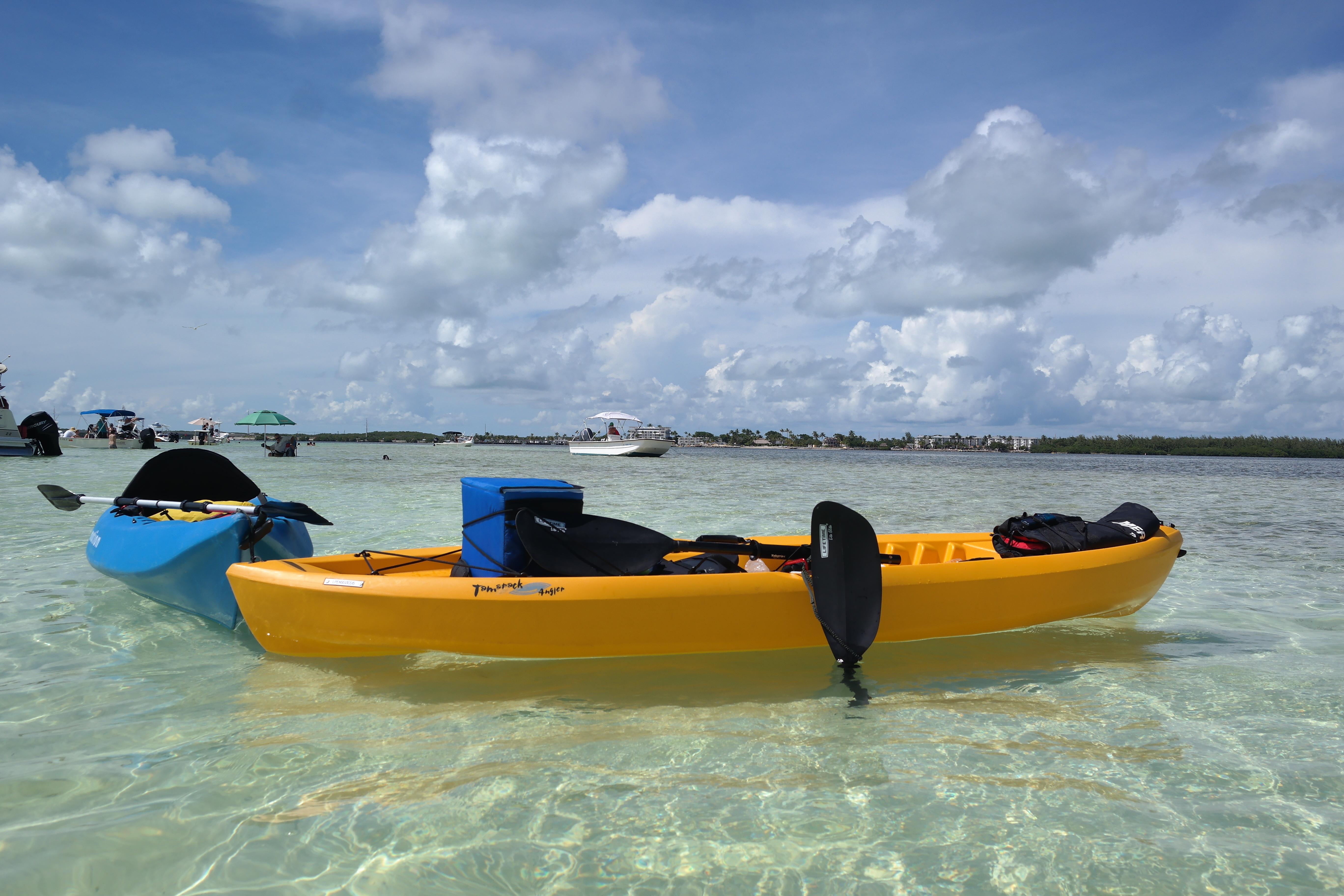 Kayaks On Islamorada Sandbar