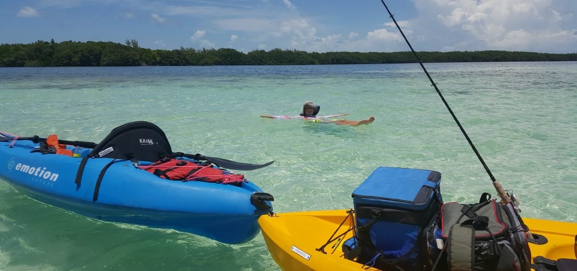 Marathon secret sandbars and kayak fishing in the for Key west kayak fishing