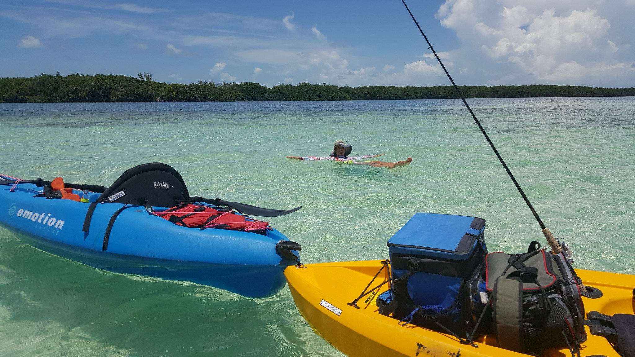 Marathon secret sandbars and kayak fishing in the for Kayak fishing florida